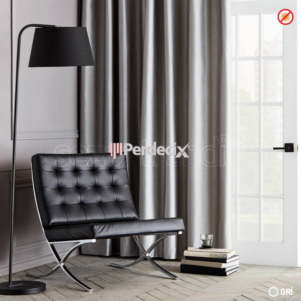 Taç Blackout Curtain 10 Colour Tone -  Straight  Gri