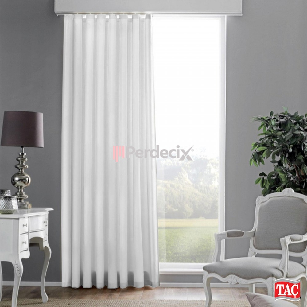1st Class Quality Satin Sunshade Curtain - White