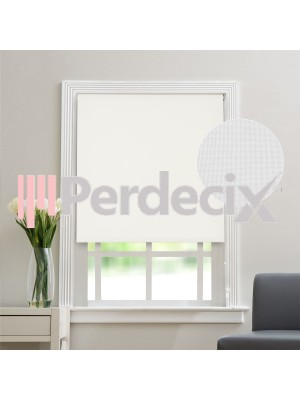Matt Linen Roller Blinds - White
