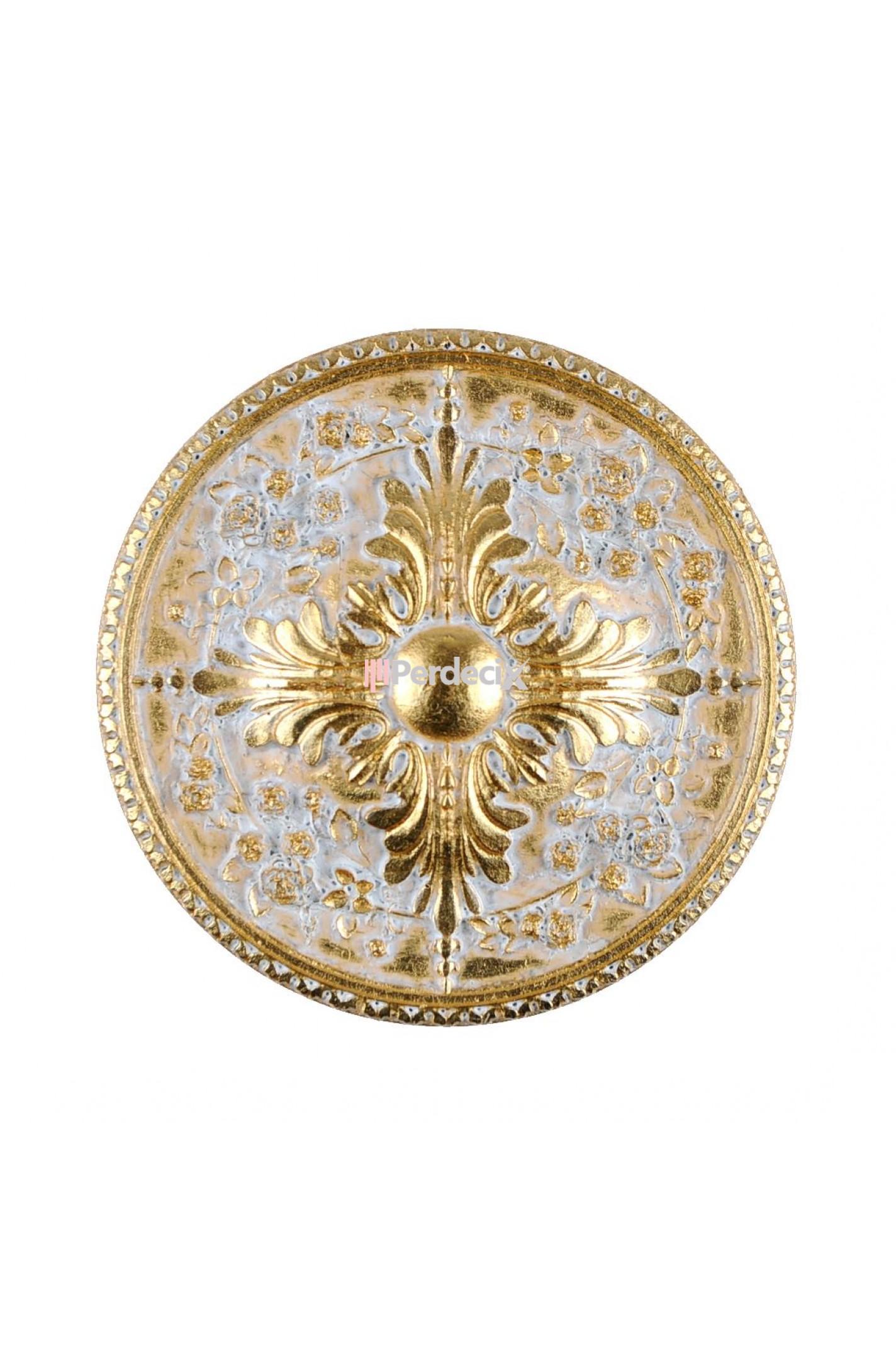 Metal Renso Fon Bağlama Demiri - Altın/Beyaz